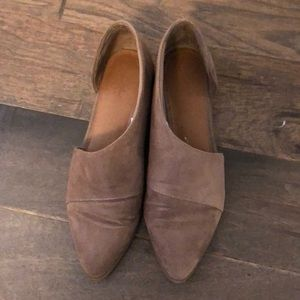 Trendy Suede Wrap Around Flats / Low Boots